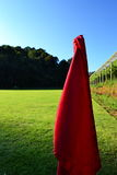 Corner flag. In the high field Stock Photo