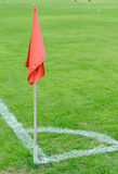 Corner flag and soccer corner Royalty Free Stock Photography