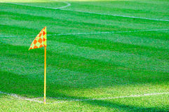 Corner flag on a soccer field Royalty Free Stock Photography