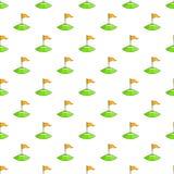 Corner flag on soccer field pattern, cartoon style Stock Photography