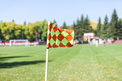 Corner flag (soccer) Stock Photos