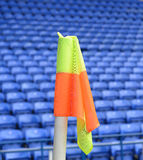 Corner flag in a soccer stadium Stock Photography