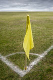 Corner flag royalty free stock photography