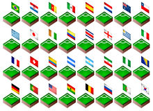Corner flags for soccer tournament 2014 Stock Photos