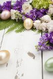 Corner Floral Frame Easter Theme royalty free stock photography