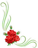 Corner floral ornament Stock Image