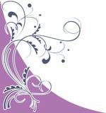 Corner floral pattern violet Stock Image