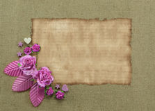 Corner flowers background with blank Stock Photos
