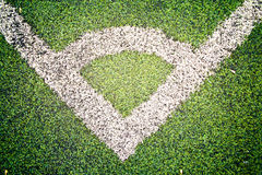 Corner of a football field. The green football field. Can be found online Stock Photo