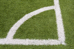 The corner of a football field Royalty Free Stock Image