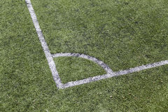 Corner of a football field Stock Images