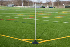 Corner of football field Royalty Free Stock Image