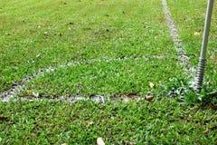 Corner of the football field Royalty Free Stock Photo