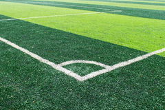 Corner of Football Field Stock Photography
