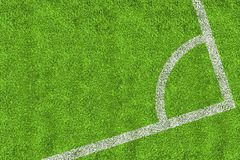 Corner of football pitch Royalty Free Stock Photos