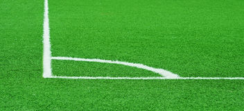 Corner of a football (soccer) field Royalty Free Stock Photography