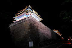 The corner of forbidden city. The night scene of forbidden city, Beijing royalty free stock photo