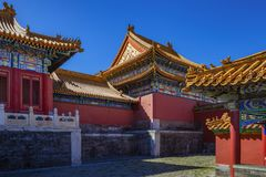 The corner of the Forbidden City royalty free stock photography