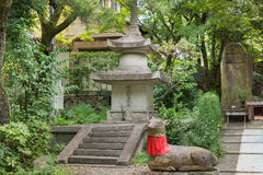 Corner of formal garden at Shorenin Buddhist Temple. Royalty Free Stock Images