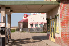 Corner Gas Station. ROULEAU, SASKATCHEWAN - AUGUST 3: The outdoor filming location for the TV sitcom 'Corner Gas' on August 3rd, 2006 in Rouleau, Saskatchewan Royalty Free Stock Images