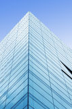 Corner of glass building Stock Photo