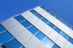 Corner of a glass office building Royalty Free Stock Image