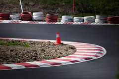 Corner of the gokart track Stock Images
