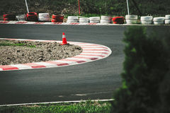 Corner of the gokart track Royalty Free Stock Photos