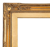 Corner of gold picture frame Royalty Free Stock Photography
