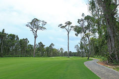 A corner of a golf field in Phu Quoc island Royalty Free Stock Photos