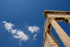 Corner of Greek temple Stock Photos