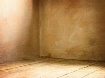Corner of grunge interior. Corner of old dirty concrete grunge interior Royalty Free Stock Photo