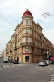 The corner house on the embankment of Griboyedov Canal, St. Petersburg. Russia Stock Photo