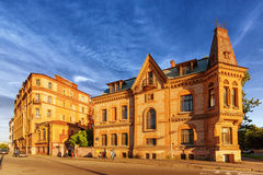 The corner house on the embankment of Moyka River Royalty Free Stock Image
