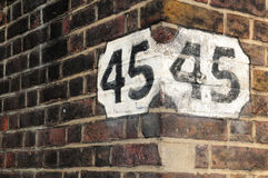 Corner house in london Stock Photo
