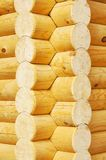The corner of house made of logs Stock Photography