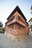 Corner house in the Old Plovdiv in Bulgaria Stock Photography