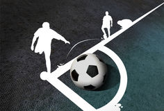 Corner kick Royalty Free Stock Photo