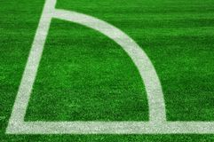 Corner kick Royalty Free Stock Photos