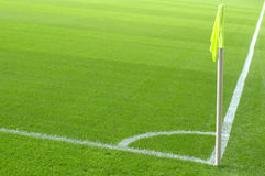 Corner kick area Stock Photos