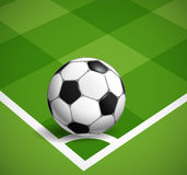 Corner kick concept illustration Royalty Free Stock Photos