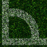 Corner kick grass background. Corner kick texture grass design  background Royalty Free Stock Images