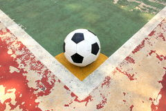 Corner kick in outdoor futsal court Stock Image