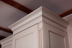 Corner of the kitchen cabinet royalty free stock photography