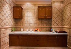 A corner of the kitchen. The modern family pay attention to design and decoration of the kitchen Stock Image