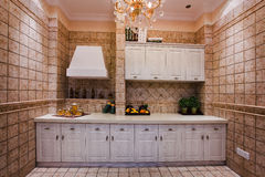 A corner of the kitchen. The modern family pay attention to design and decoration of the kitchen Royalty Free Stock Photography
