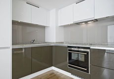 Corner kitchen unit Stock Photography