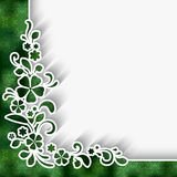 Corner lace ornament Stock Photography