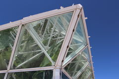 Corner of Large Arizona Greenhouse Stock Photography