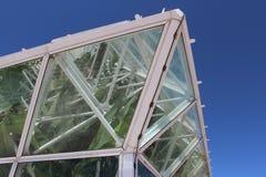 Corner of Large Arizona Greenhouse. Corner of large greenhouse with tropical plants near Tucson, Arizona Stock Photography